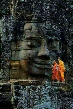 Bayon Temple, Ancient City of Angkor Thom, Cambodi. - Bayon Temple, Ancient City of Angkor Thom, Cambodi… – - Ancient Aliens, Angkor Wat Cambodia, Little Buddha, Cambodia Travel, Buddha Art, Buddha Buddhism, Buddha Peace, Buddha Statues, Ancient Architecture