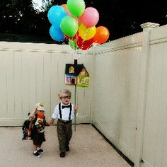 UP costume with two little boys.