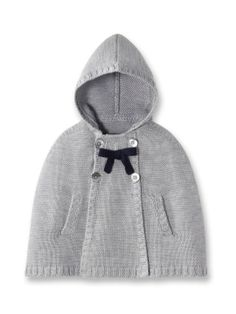 Georgina Hooded Knit Cape by Jacadi at Gilt