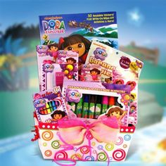 Christmas basket for the boss full of individual gifts from gift basket for girls merry christmas with dora the explorer negle Image collections