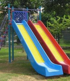 Build India's commercial Outdoor playground equipment and indoor playground or soft play equipment is designed and create the perfect play system for your children. Outside Playhouse, Backyard Playhouse, Build A Playhouse, Wooden Playhouse, Backyard Playground, Backyard For Kids, Playground Slides, Backyard Ideas, Backyard Patio