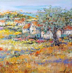 "Saatchi Art Artist Ine Louise Mourick; Painting, ""Sentiment de vacances"" #art"