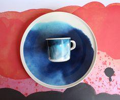 Marimekko Sääpäiväkirja coffeecup and plate.