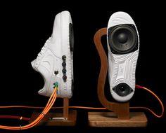 szymon: Sneaker Speakers from Alex Nash. #music #speakers #shoes http://www.pinterest.com/TheHitman14/music-paraphernalia/