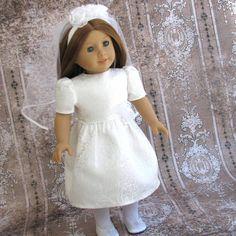 girls+first+communion+socks | First Communion - American Girl Doll Clothes Wedding Bridal Flower ...