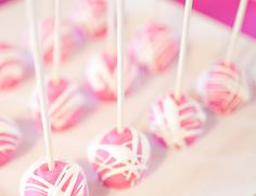 baby shower cake pops for girls | Real Shower: A Pink Explosion Baby Girl Celebration | Baby Lifestyles