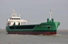 http://koopvaardij.blogspot.nl/2017/07/21-juli-2017-op-de-westerschelde-via.html    ARKLOW VANGUARD  Bouwjaar 2017, imonummer 9772577, grt 2999  Manager Arklow Shipping Nederland B.V., Rotterdam