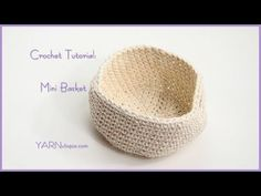 DROPS Crocheting Tutorial; How to work a basket with star pattern - YouTube