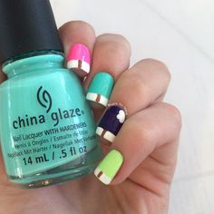 Simple summer nails: Popsicle nails