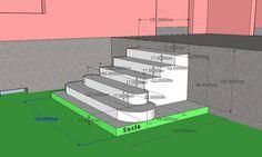 Cet escalier extérieur donnera l'accès à une terrasse ! Nous allons suivre pas à pas sa construction ! Premièrement après avoir tracé l'emplacement, nous coffrons le socle dont la surface supérieure délimitera le sol fini autour de l'escalier (gazon,...