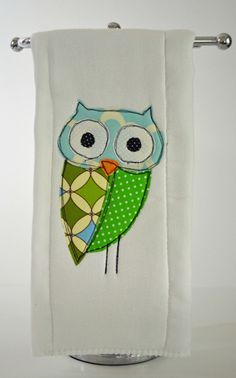 Owl Applque  Love Owls more every time I see one