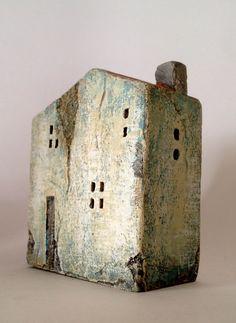 conjunto de 3 casas de cerámica en arcilla de por VesnaGusmanArt