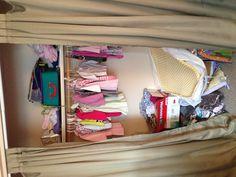 Kids closet before www.doubletakeorganizing.ca