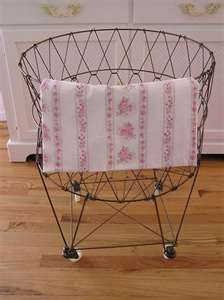 Old wire laundry basket