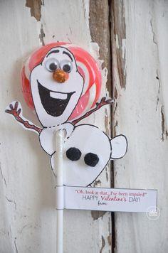 Olaf valentine |free-printable-valentines | theidearoom.net
