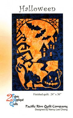 Quilt Pattern Halloween Nancy Lee Chong for Pacific Rim
