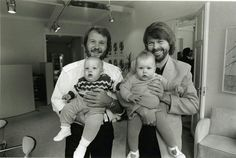 Benny with Ludvig and Bjorn with Emma in 1982