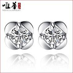 2016 new 925 Sterling Silver Stud Earrings Korean version of lucky clover flower female factory wholesale