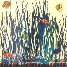 Crayon art project, cute fishy variation!