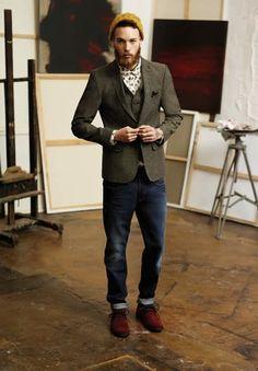 Casual : veste tweed + chaussures