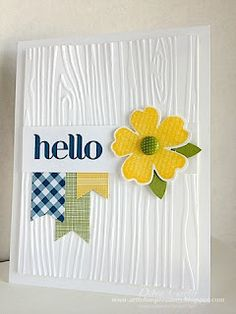 Simple; could use any embossing folder, washi tape & flower combo. So many possibilities.