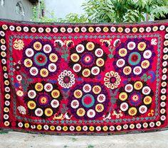 Big SUZANI FOR SALE suzani bedding Suzani fabric home by SilkWay