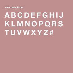A B C D E F G H I J K L M N O P Q R S T U V W X Y Z #