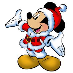 Mickey Mouse - Disney And Cartoon Christmas Clip Art Images