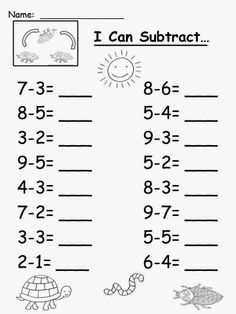 Free: Eric Carle's The Very Clumsy Click Beetle Subtraction Sheet. For Educatio… Free: Eric Carle's The Very Clumsy Click Beetle Subtraction Sheet. For Educatio…,Çıkarma işlemi Free: Eric Carle's The Very Clumsy Click Beetle Subtraction. Kindergarten Addition Worksheets, Subtraction Kindergarten, First Grade Math Worksheets, English Worksheets For Kids, Subtraction Worksheets, Preschool Math, Preschool Worksheets, 1st Grade Math, Math For Kindergarten