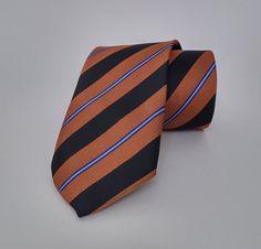 Brown Necktie, Brown Men's Tie, Brown Cravat, Brown Tie - SL375 #handmadeatamazon #nazodesign