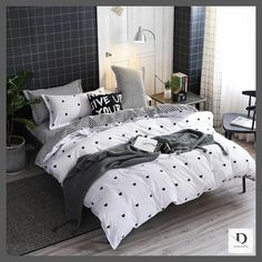 Shop Dablew11 for Best White Grey Linen Bedding Sets | Grey and White Striped Sheets Sets. It is made of super soft polyester. Beautiful Colorful designs, bedding sets, Comforter sets, Children Adult Bedding set, Bed Linen Duvet Cover Bed Sheet Pillowcase/bed Sets. Free Shipping Worldwide!
