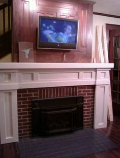 diy fireplace makeover | DIY Fireplace Makeover - like the upper part
