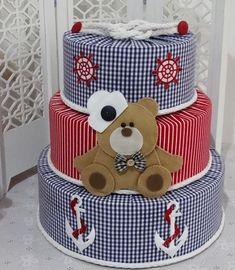 Bolo Fake Urso Marinheiro - Infinita Arte for Baby