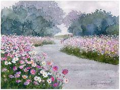 安靜地欣賞100幅安靜的水彩畫