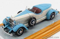 ILARIO-MODEL IL43099 Scale 1/43  CADILLAC 452A V16 FARINA ROADSTER 1931 LIGHT BLUE WHITE