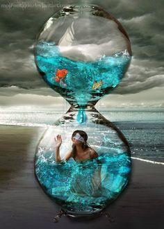 Hourglass by moiFontaine on DeviantArt Fantasy Kunst, Fantasy Art, Sand Timers, Fantasy Photography, Paradis, Time Art, Surreal Art, Types Of Art, Dark Art