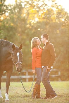 Whenever that day comes in the future (probably a far future..) where I get engaged, I will have my horse in the picture. CONGRATS you're not only marrying me but my horse obsession as well.