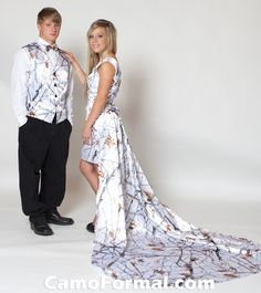 Sherry Jo\' Custom Made CAMO Wedding Hi-Lo Dress With Train | wedding ...