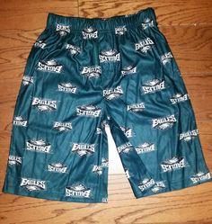 Philadelphia Eagles Toddler Allover Logo Flannel Pajama Pants - Midnight Green