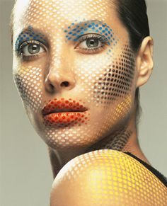 christy turlington for reagan cameron, v magazine 2002 #makeup