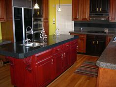 Repurposed.  Refinished Kitchen Cabinets. Wonderful and practically free.