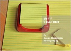 Yellow Writing Pads Royalty-free Image | Getty Images | 145634001