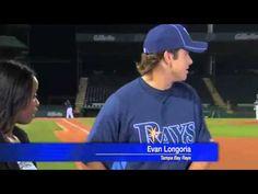 Evan Longoria saves reporters life!!