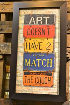 Art doesn't have to match.....