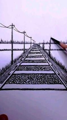 Art Drawings Beautiful, Art Drawings Sketches Simple, Pencil Art Drawings, Easy Drawings, 3d Art Drawing, Drawing Sunset, Arte Mehndi, Diy Canvas Art, True Art