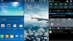 Galaxy Android KitKat firmware leaks, with white status icons and other UI tweaks Android 4, Samsung Galaxy S4, Galaxies, Airplane View, Trip Advisor, Kit, Tech, Icons, Technology