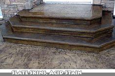 Really nice looking stamped concrete, similar look to the step I have now.
