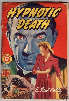 """scientific! The large figure is modelled on Bela Lugosi playing 'Murder' Legendre in the 1934 cheapie """"White Zombie"""""""
