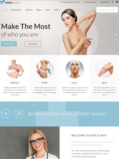 6 of the Best WordPress Themes for Plastic Surgeons Cosmetic Surgery Clinics – Care – Skin care , beauty ideas and skin care tips Medical Websites, Lymphatic Drainage Massage, Web Design, Beauty Clinic, Cosmetic Companies, Liposuction, Cosmetic Dentistry, Body Contouring, Best Wordpress Themes