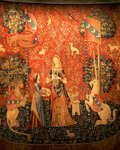 The Lady and the Unicorn tapestry: Tasting,